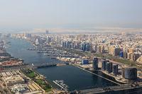 Dubai The Creek Fluss Luftaufnahme Luftbild