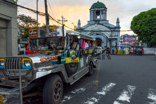 Jeepney and Cathedral of St. Gregory the Great