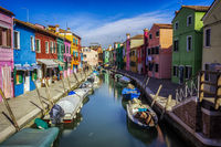 Burano canal in venice