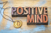 Positive mind in wood type