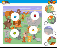 match pieces activity game with animals