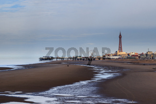 A view of Blackpool with the tower