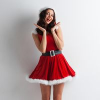 Pin-up Santa girl