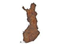 Karte von Finnland - Map of Finland