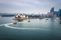 Sydney city center and Opera House, Australia