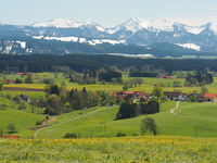 View from the Siggener Hight to the Nagelfluhkette, Allgäu, Germany
