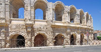 famous Amphitheatre in Arles,Provence,France