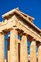 Columns of the Parthenon temple