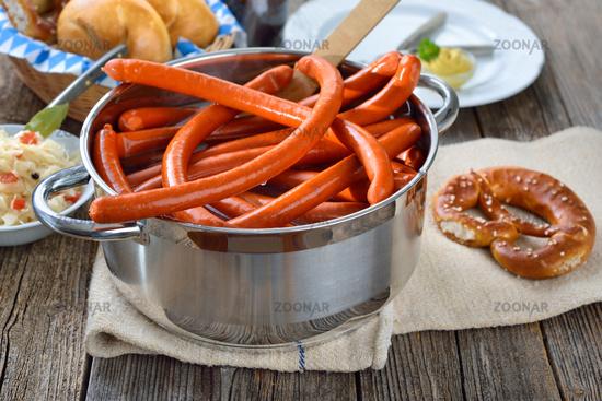 Hot Debreziner sausages