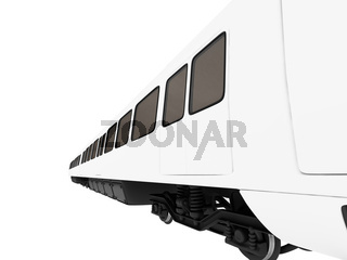 isolated train on a white background