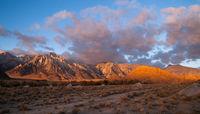 Alabama Hills Sunset Sierra Nevada Range California Mountains