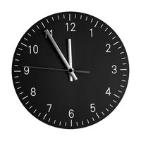 isolated wall clock with its hands at 5 to 12