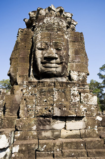Ancient statue in Angkor Wat, Cambodia