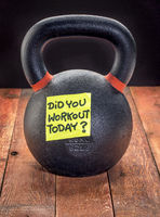 heavy iron kettlebell - workout reminder