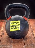 heavy iron kettlebell - workout reminder