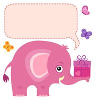 Elephant with copyspace theme 5