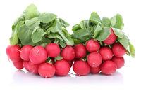 Radieschen frisch rot Gemüse Freisteller freigestellt isoliert