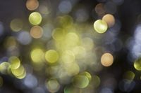 Sparkling Yellow Lights Background, Party Or Christmas Texture