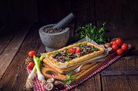 mushroom tart with ricotta