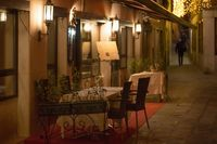 Small romantic seating in Italian Venice