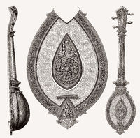 Old Indian string instrument, 19th century