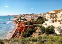 Rocky coast of Dehesa de Campoamor. Spain
