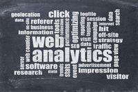 web analytics word cloud on blackboard