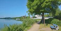 Promenade of Ploen in Holstein Switzerland,Schleswig-Holstein,Germany