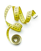 Measuring tape of the tailor.