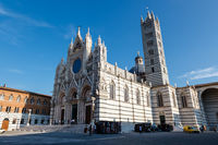Beautiful Santa Maria Cathedral in Siena, Tuscany, Italy