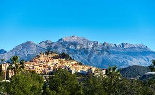 Picturesque spanish hillside village Polop de la Marina. Spain