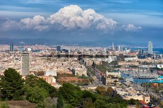 City of Barcelona Picturesque Cityscape