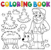 Coloring book forester theme 2