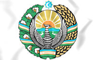 Uzbekistan coat of arms. 3D Illustration.