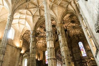 Inside the Jeronimos monastery (Lisbon, Portugal)