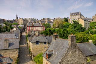 Stadt Dinan in der Bretagne, Frankreich - town Dinan in Brittany, France