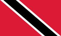 Fahne von Trinidad und Tobago - Colored flag of Trinidad and Tobago