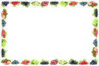 Beeren Erdbeeren Himbeeren Johannisbeeren Trauben Weintrauben Rahmen Früchte Textfreiraum Copyspace