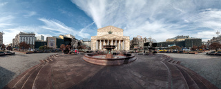 Panorama of the Bolshoi Theatre in Moscow, Russia.