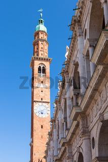 clock tower (torre della bissara) in Vicenza city