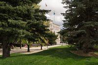 Nevada State Legislature building entrance in Carson City
