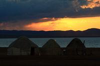 Yurt Camp at Song Kol Lake, Central Kyryzstan