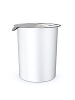 typical plastic cup with closed foil