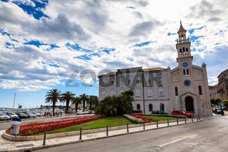 Church near Square of Republic in Split, Croatia