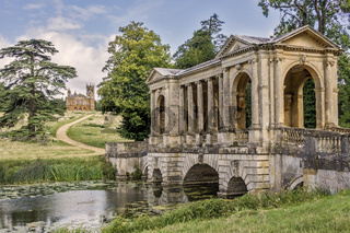 Palladian Bridge Stowe Gardens Buckingham UK