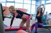 Sport. Image of training athletes in gym