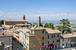 Ansicht von Montalcino, Toskana, Italien