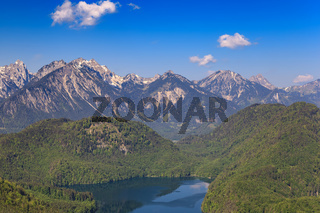 Bavaria landscape of Alps mountain, Fussen, Bavaria, Germany