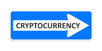 german one way sign with the word cryptocurrency