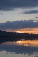 Sunset at lake Kochelsee